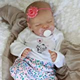 JIZHI Lifelike RebornBaby Dolls Girl 17 Inch Full Vinyl Body Washable Realistic Newborn Baby Dolls with Clothes and Toy Acces