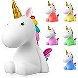 Sweet Ponies Led-nachtlampje, eenhoorn, oplaadbaar, schattige kleurwisselende lamp