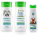 Mamaearth Natural Baby Lotion 200ml, Baby Shampoo 200ml,Powder 100gm Combo Pack