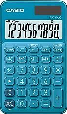 Casio SL-310UC-BU Taschenrechner, 10-stellig, in zehn Farbvarianten