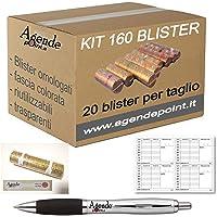 Holenburg Kit de 160 blisters de rangement assortis (20 par coupure) en plastique transparent pour pièces de monnaie