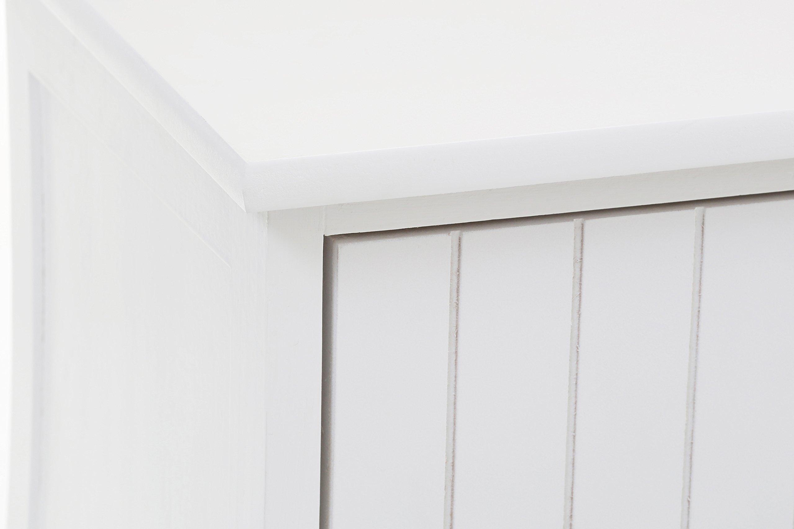 Premier Housewares Maine Banco con 4 cajones, Madera, Multicolor, 34x120x43 cm