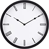 Amazon Basics Horloge murale romane, noir, 30,5 cm