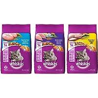 Whiskas Adult (+1 Year) Dry Cat Food, Ocean Fish Flavour, 1.2kg Pack & Adult (+1 Year) Dry Cat Food, Chicken Flavour, 1…