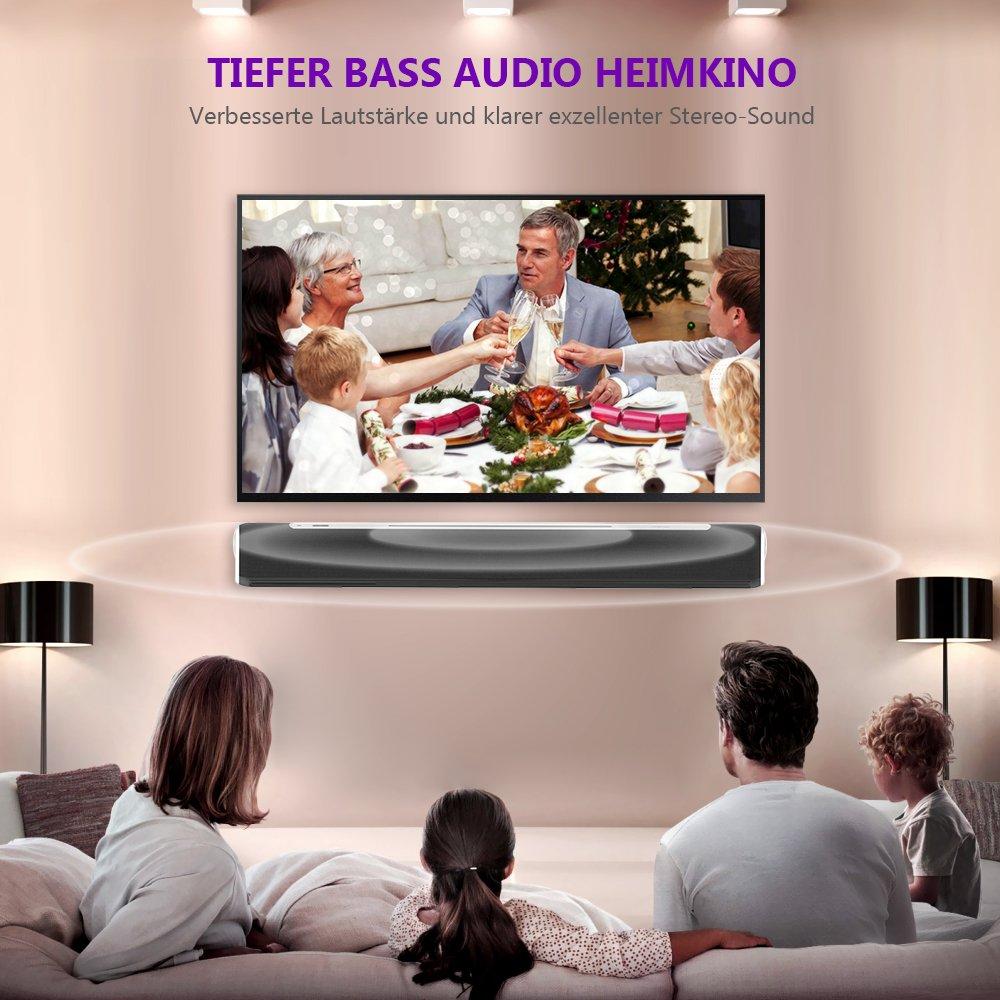 Soundbar TV Bluetooth, MindKoo 2.0 Sound Bar für TV Geräte (40W mit ...
