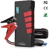 YABER Starthilfe Powerbank, 1000A 20800mAh Auto Starthilfe mit LED Taschenlampe, LCD Display, QC3.0 Ausgang, Typ C Anschluss für Laptop, Smartphone