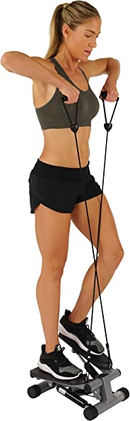 Sunny Health & Fitness Unisex Adult NO. 012-S Mini Stepper With Bands - Black, One Size
