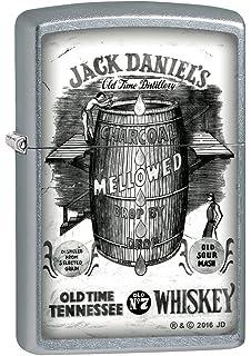 One Size Silver Cromo Zippo Feuerzeug 60002672 PL Jack Daniels Lighter