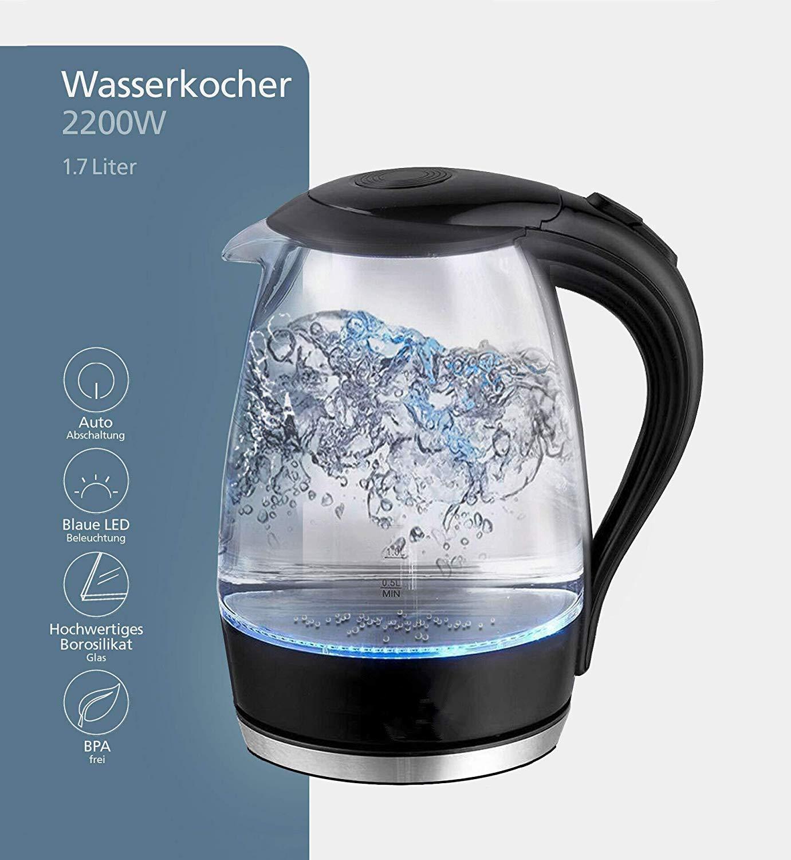 LED-Glas-Wasserkocher-17-Liter-mit-LED-Beleuchtung-Trockenlaufschutz-BPA-frei-2200W