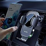 Auckly 15 W Fast Wireless Charger samochodowy uchwyt na telefon komórkowy z funkcją ładowania, automatyczna indukcja silnik,