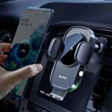 Auckly Wireless Car Charger,[Electromagnetic Sense],Qi 15W Fast in Car Wireless Charger Automatic Sensor Phone Holder…