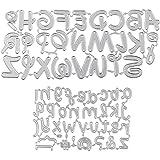 UFLF 2PCS Dies Scrapbooking Alphabet Lettre Matrice de Decoupe en Acier Stencils Pochoir DIY Album Outil de Gaufrage Décorati