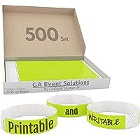 GA Event Solutions Ruban d'accès en Tyvek jaune fluo 500 Stück jaune