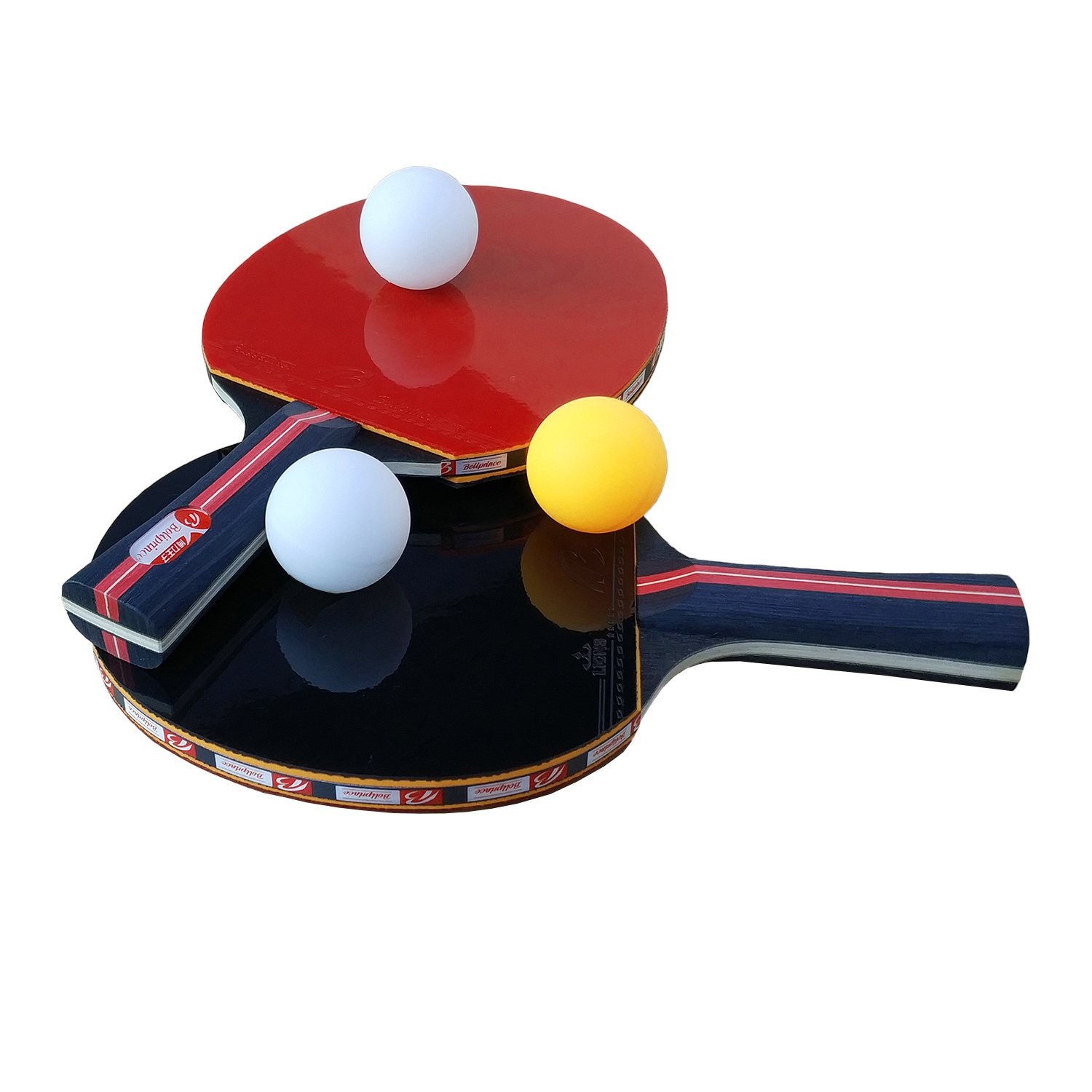 Easy-Room Table Tennis Racket Bat Set, Pingpong Paddle with 2 Bats ...