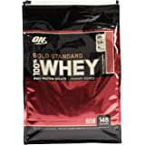 Optimum Nutrition Gold Standard Whey Delicious Strawberry Flavor Powder, 10 Lbs