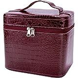 COOFIT صندوق الجمال نمط التمساح حقيبة ماكياج جلد للنساء كبير, , احمر - LYSB00WQY2Q0U-OFFSUPPLIES