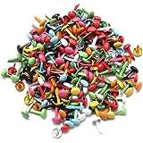 TOOGOO Lot de 200 Mini Attaches Parisiennes Multicolore Papier Craft Estampillage Scrapbooking Bricolage Outil 4,5mm