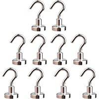 Ant Mag Magnetic Hooks 10 Pack 8KG (18LBS) Super Magnets Hook with Neodymium Rare Earth for Cruise Ship Accessories…