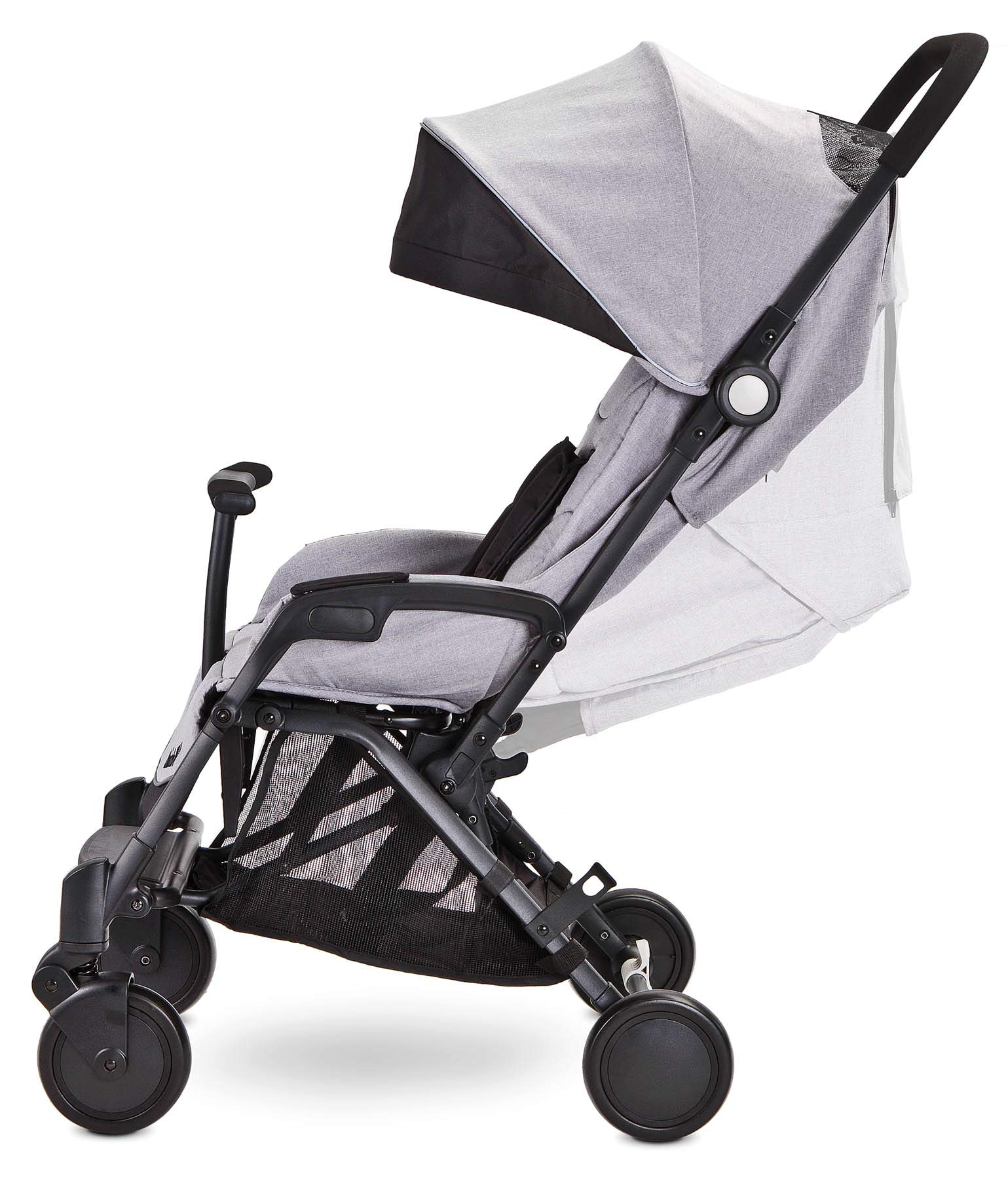 Aviator Ultralight Pushchair Grey Caretero Stroller for babies from 6 months Month weighing up to 15 kg Compact size and light weight (7.1kg) for easy manoeuvring and transport Eva foam wheels front with cushioning for driving comfort 6