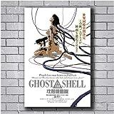 nr Poster und Drucke New Ghost IN The Shell Anime Film Benutzerdefinierte Kunst Poster Leinwand Malerei Home Decor-50x70cm No Frame