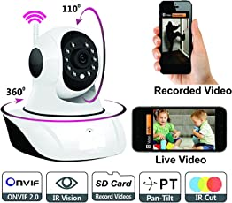 Maxxlite Wireless HD IP Wifi Camera CCTV indoor Security CCTV Camera Video Monitor (Inbuilt Mic)