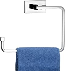 URBAN SHOPIEE Fuao Pure Brass Towel Ring (Silver 1 Pc 21 Cm)