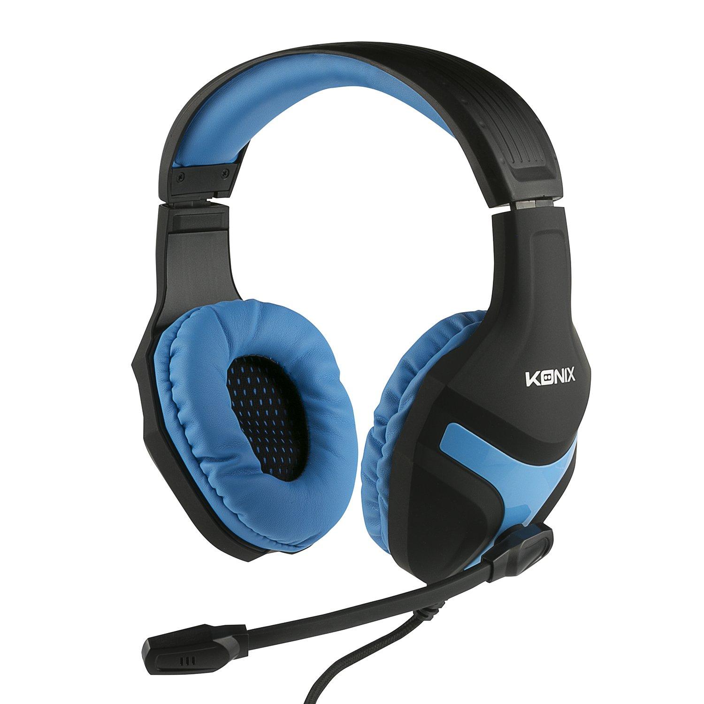 Konix PS-400 – Casque Gaming PS4 Compatible Xbox One, PC, Tablette, Smartphone – Haute Qualité Audio – Micro Casque Gamer Avec Microphone