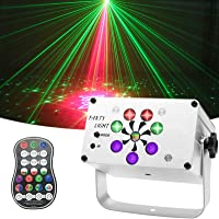 Discolicht, EatronChoi 240 LED-Muster Partylicht USB Discokugel Sound Aktivierte Bühnenlichter mit Drahtlose…