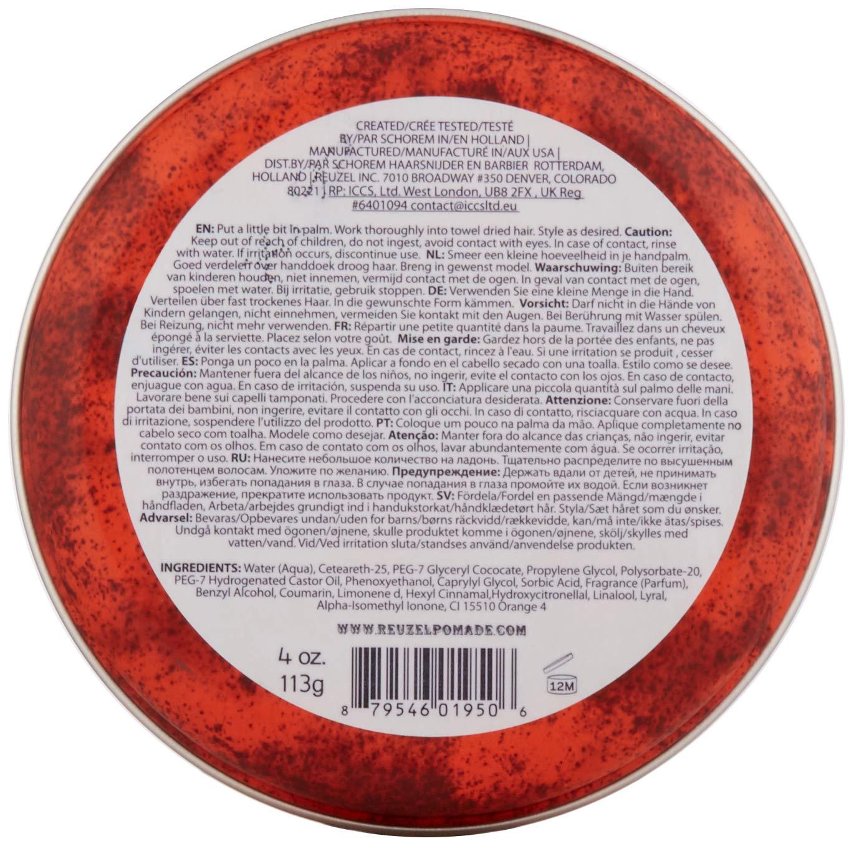 Reuzel Pomada para pelo rojo, 113 g
