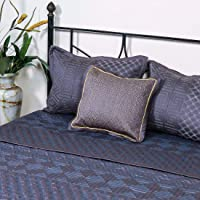 Generic Cotton 1000 TC Bed Cover (Full_Charcol)