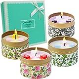 LA BELLEFÉE Bougies Parfumées Bougies Florales de Rose Vanille Lavande Jasmine Bougie Cire de Soja Naturelle Parfum d'Ambianc