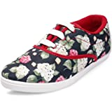 Meriggiarre Women Canvas/Fabric Lace-ups Digital Print Pattern Light Weight Casual Sneaker Shoes for Daily/Casual Wear -Multi