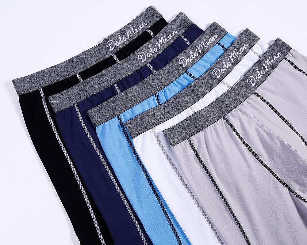 71CElRXeVwL - DODOMIAN Bóxers para Hombre Pack de 5 Ropa Interior de algodón elástico Calzoncillos Underwear