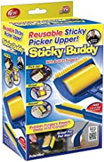 Wuze Sticky Buddy Reusable & Washable Sticky Picker Lint Cleaning Roller Brush Pet Fluff Fur Hair Remover