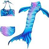 3pcs Mermaid Tail Dress Baby 3Pcs/set Girls Kid Cosplay Costume Vest Top Mermaid Tail Cloth Swimsuit Mermaid Costume Tail Cos