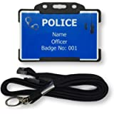 Personalised Children's Novelty ID Card & Lanyard - Police Officer - Role play - Pretend Play - Imaginary Play