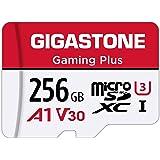 Gigastone Scheda di Memoria Micro SDXC da 256 GB, Gaming Plus Serie, A1 U3 V30, Velocità Fino a 100/60 MB/Sec(R/W) + Adattato