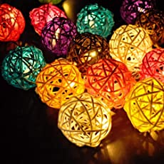 Satyam Kraft Colorful Mesh Ball Battery Operated Decorative Lights,(White)