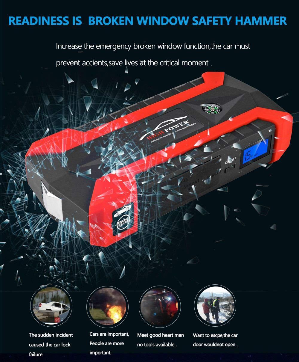 89800mAh Car Battery Jump Starter Pack – Cargadores portátiles de herramientas eléctricas para exteriores Cargador…