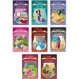 Story Books for Kids (Set of 8 Books) (Illustrated) - Aladdin, Goldilocks, Pied Piper of Hamelin, Goldilocks…Little Mermaid
