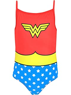 Toddler Girls Swimming Costume Wonder Lady Swimsuit Superhero Two Piece Swimwear UPF50 Bathing Suit