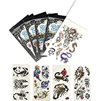 Birthday Popper Temporary Tattoos (Set of 10 Booklets) for All Age Group  Cute Style   100+ Tattoo Designs  Body Art…