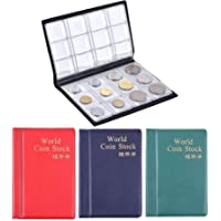 House of Quirk 120 Pockets Coin Holder Collection Coin Storage Small Album Book for Collectors, Money Penny Pocket…