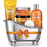 Bryan & Candy New York Orange & Mandarin Bath Tub Kit Gift For Women And Men Combo For Complete Home Spa Experience (Shower G