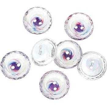 500 Stück Acrylknöpfe 1,1mm Löcher Knopf Knöpfe Facettiert 6mm Durchmesser weiß