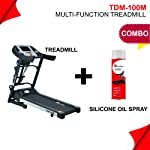 Powermax Fitness TDM-100M (1.5HP), Semi-Auto Lubrication, Multifunction Treadmill for home fitness