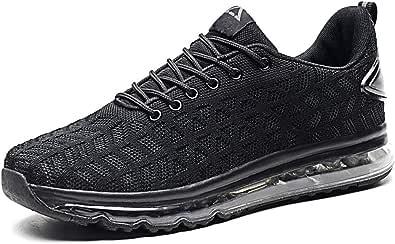 Scarpe da Corsa Cuscino d'Aria Uomo Fitness Scarpe da Ginnastica Corsa Running Sneakers Casual all'Aperto Sportive Basse Basket Sport Outdoor Fitness Sneakers