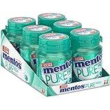 Mentos Gum Pure Fresh Wintergreen, munt smaak met groene thee extract. suikervrije kauwgom – verpakking van 6 potjes met 30 k