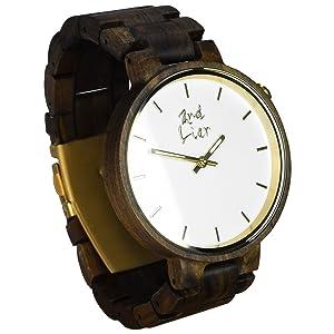 2nd Liar: Holz Armbanduhr