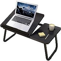 Mnkyer Table d'ordinateur Portable Support de Bureau Pliable, Table d'ordinateur Portable Réglable pour lit Ordinateur…